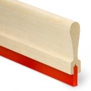 Rodo de madeira formato anatômico com Poliuretano Importado Polypress Dur. 60 c/ 100 cm