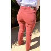 calça jeans colorido reta