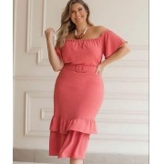 Vestido Plus Size Mid