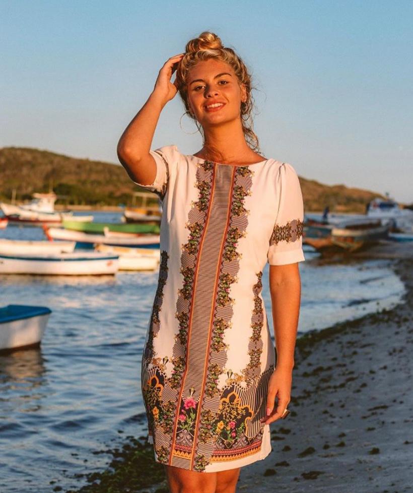 Vestido Curto Yumarimel Estampa Digitalizada