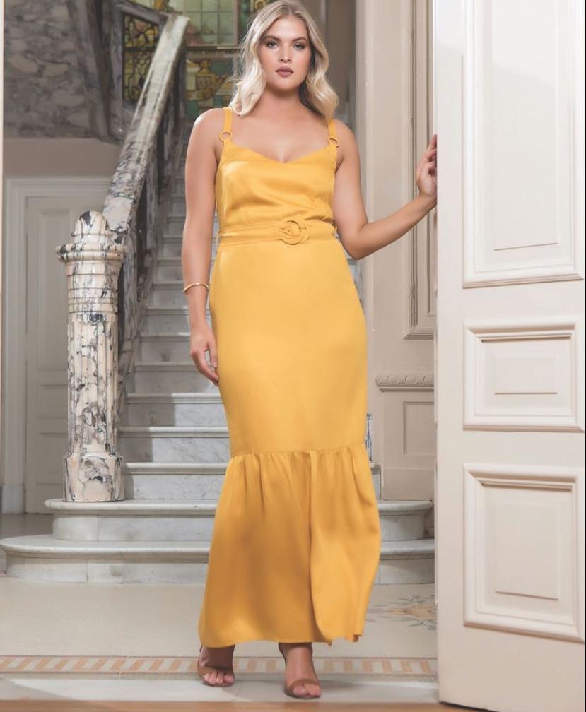Vestido Longo Plus Size Liocel