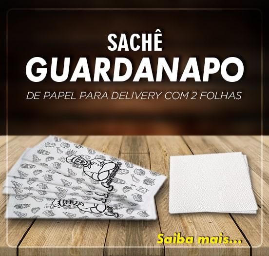 sachê guardanapo de papel para delivery com 2 folhas - 100 unidades