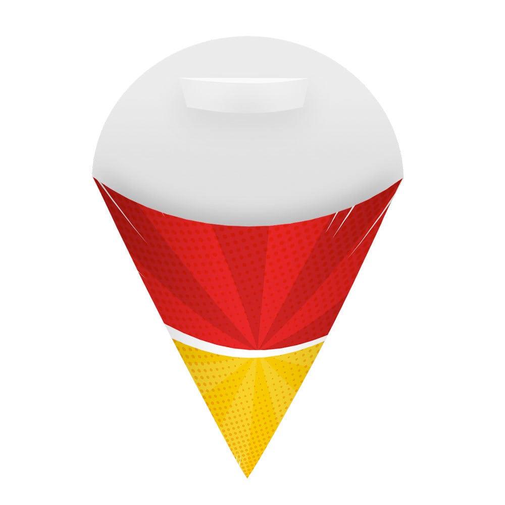 Embalagem Cone para Salgados e Porções Média - Color - 100 unidades  - 24 PRINT EMBALAGENS