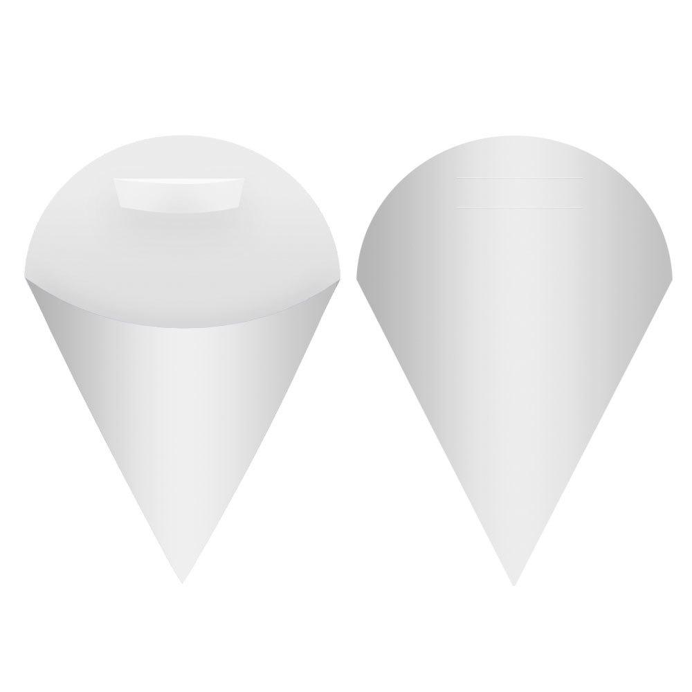 Embalagem Cone para Salgados e Porções Média - White - 100 unidades  - 24 PRINT EMBALAGENS