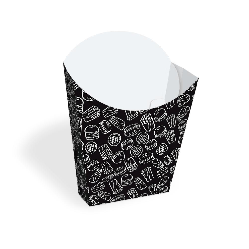Embalagem para Batata Frita - BLACK - 100 unidades  - 24 PRINT EMBALAGENS