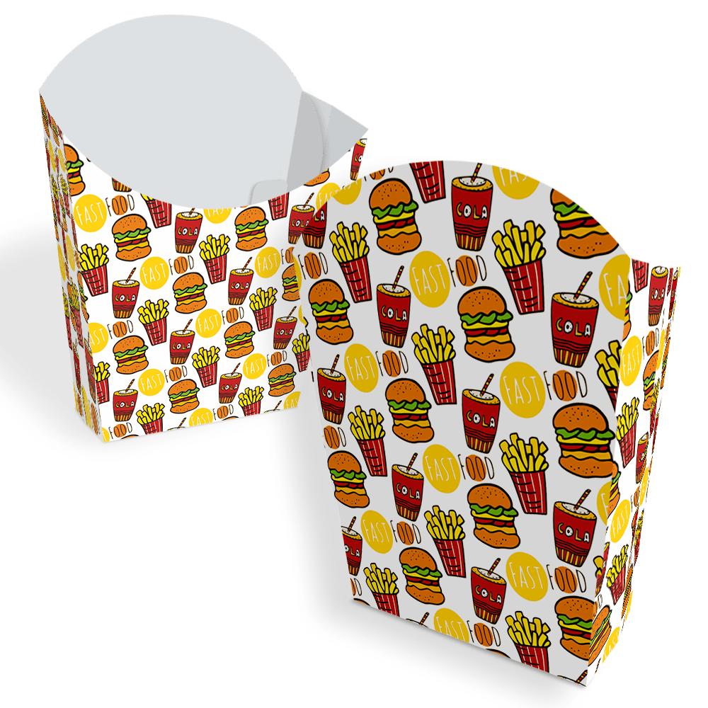 Embalagem para Batata Frita - COLOR - 100 unidades  - 24 PRINT EMBALAGENS