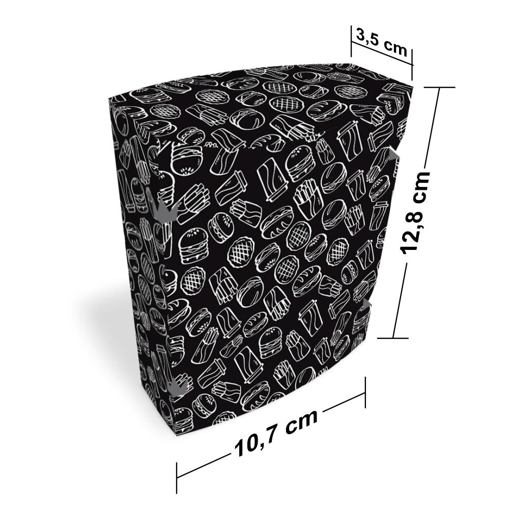 Embalagem para Batata Frita Delivery - BLACK - 100 unidades  - 24 PRINT EMBALAGENS