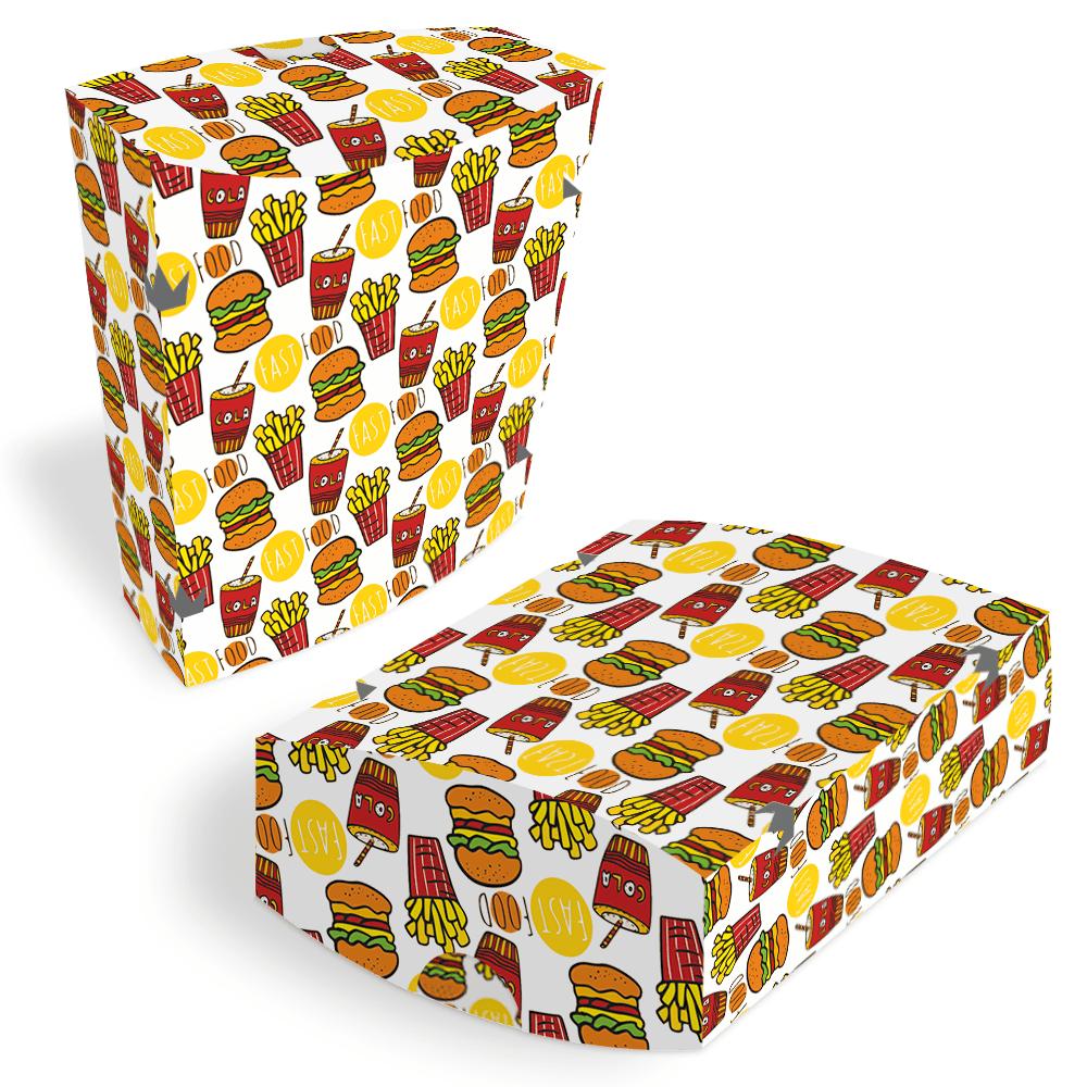Embalagem para Batata Frita Delivery - COLOR - 100 unidades  - 24 PRINT EMBALAGENS