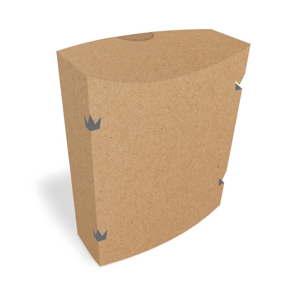 Embalagem para Batata Frita Delivery - KRAFT - 100 unidades  - 24 PRINT EMBALAGENS