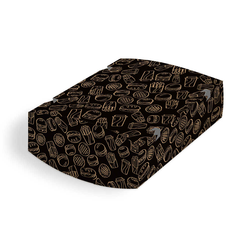 Embalagem para Batata Frita Delivery - KRAFT BLACK - 100 unidades  - 24 PRINT EMBALAGENS