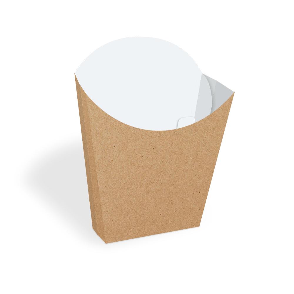 Embalagem para Batata Frita - KRAFT - 100 unidades  - 24 PRINT EMBALAGENS