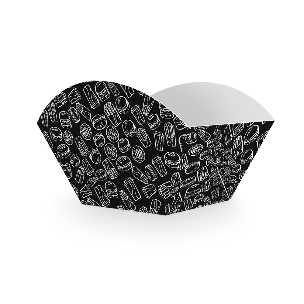 Embalagem para Batata Frita Porção - BLACK - 100 unidades  - 24 PRINT EMBALAGENS