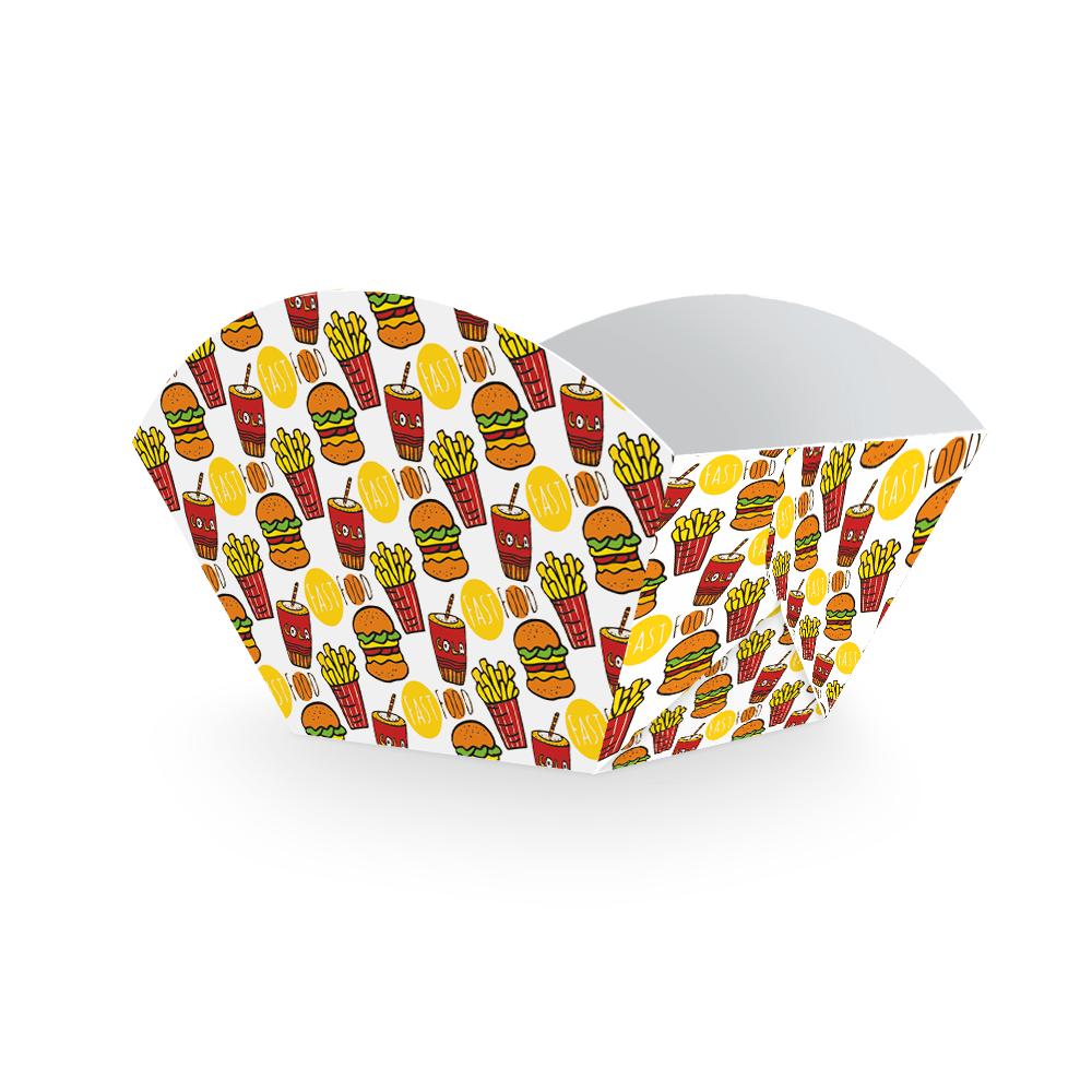 Embalagem para Batata Frita Porção - COLOR - 100 unidades  - 24 PRINT EMBALAGENS