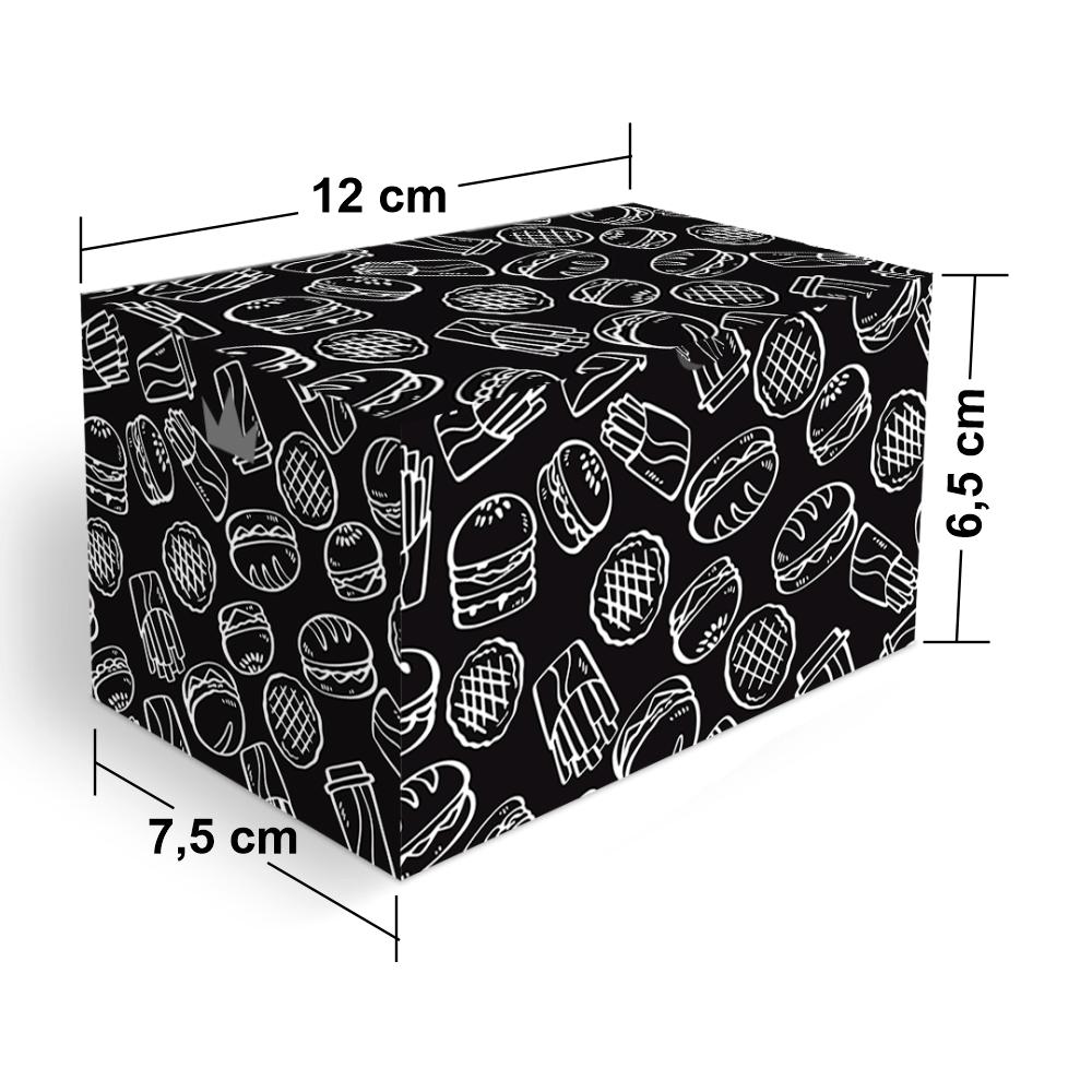 Embalagem para Batata Frita Porção Delivery - BLACK - 100 unidades  - 24 PRINT EMBALAGENS