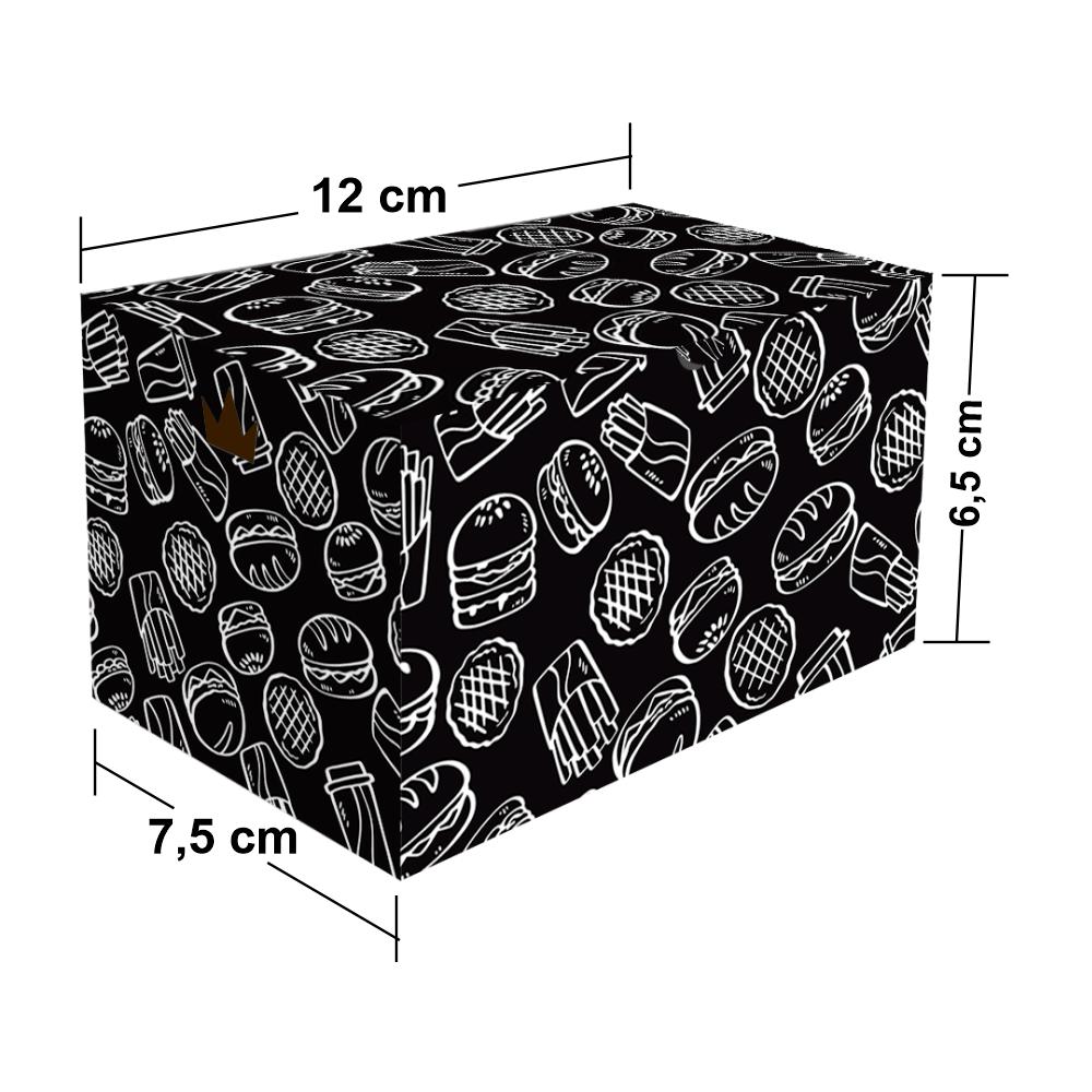 Embalagem para Batata Frita Porção Delivery - BLACK - 100 unidades - Klabin  - 24 PRINT EMBALAGENS