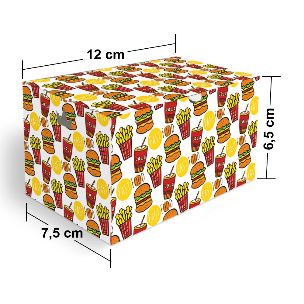 Embalagem para Batata Frita Porção Delivery - COLOR - 100 unidades  - 24 PRINT EMBALAGENS