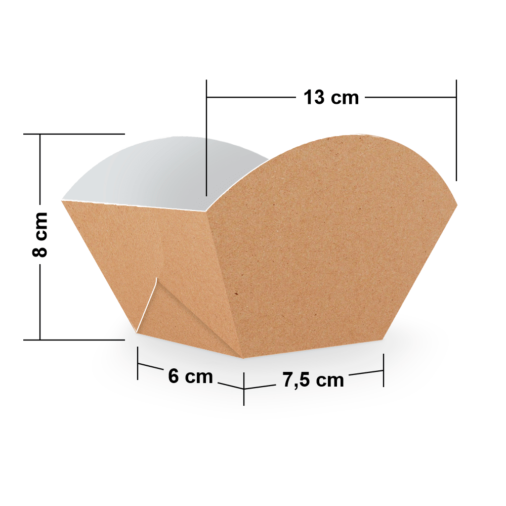Embalagem para Batata Frita Porção - KRAFT - 100 unidades  - 24 PRINT EMBALAGENS