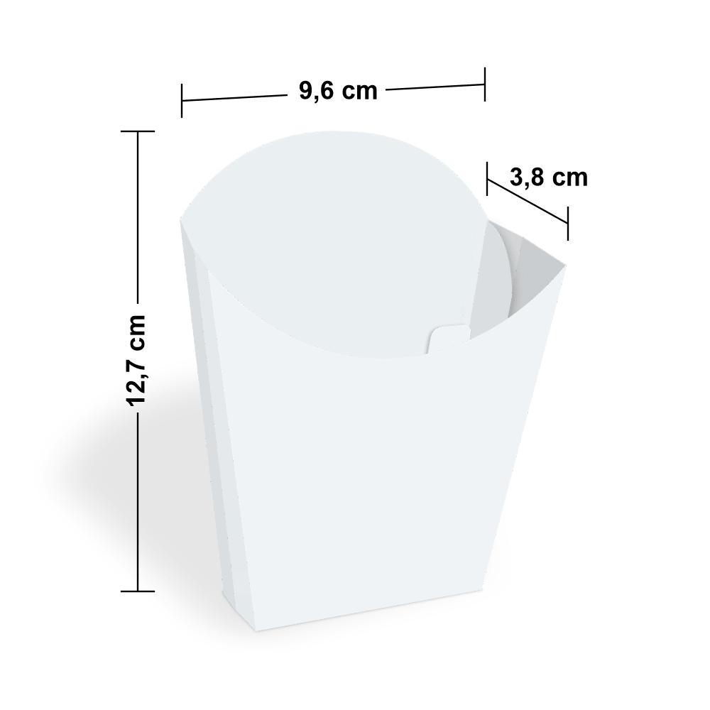 Embalagem para Batata Frita - WHITE - 100 unidades  - 24 PRINT EMBALAGENS
