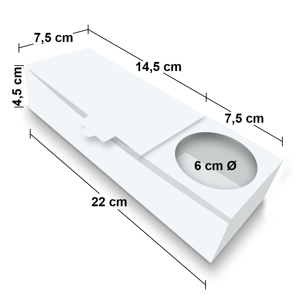 Embalagem para Churros Espanhol Delivery - WHITE - 100 unidades  - 24 PRINT EMBALAGENS
