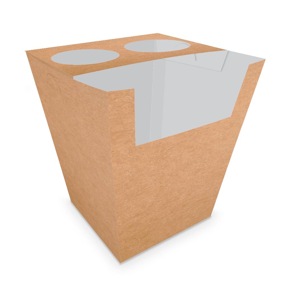 Embalagem para Churros Espanhol - KRAFT - 100 unidades  - 24 PRINT EMBALAGENS