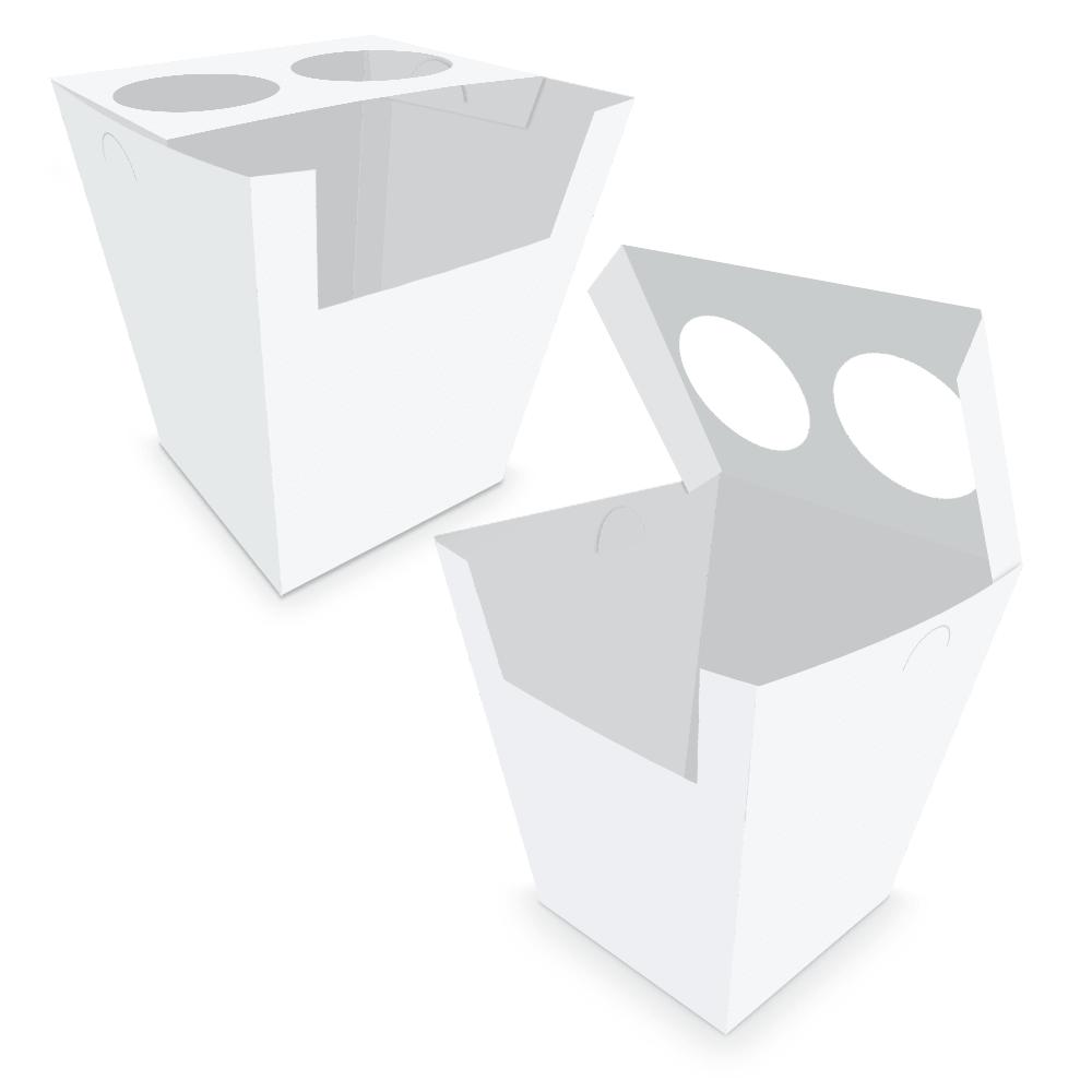 Embalagem para Churros Espanhol - WHITE - 100 unidades  - 24 PRINT EMBALAGENS