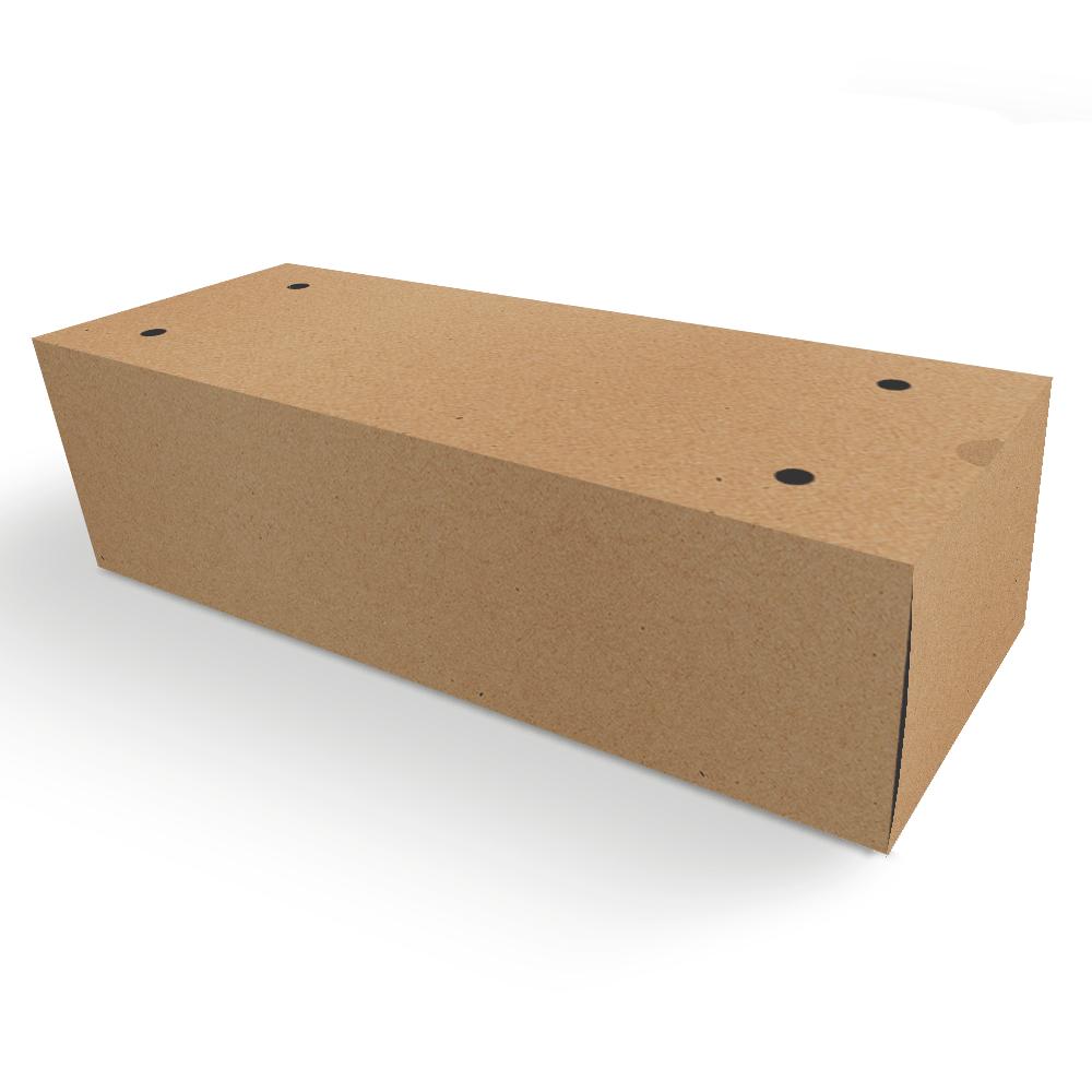 Embalagem para Churros Externo Gourmet 2 unidades - KRAFT - 100 unidades  - 24 PRINT EMBALAGENS