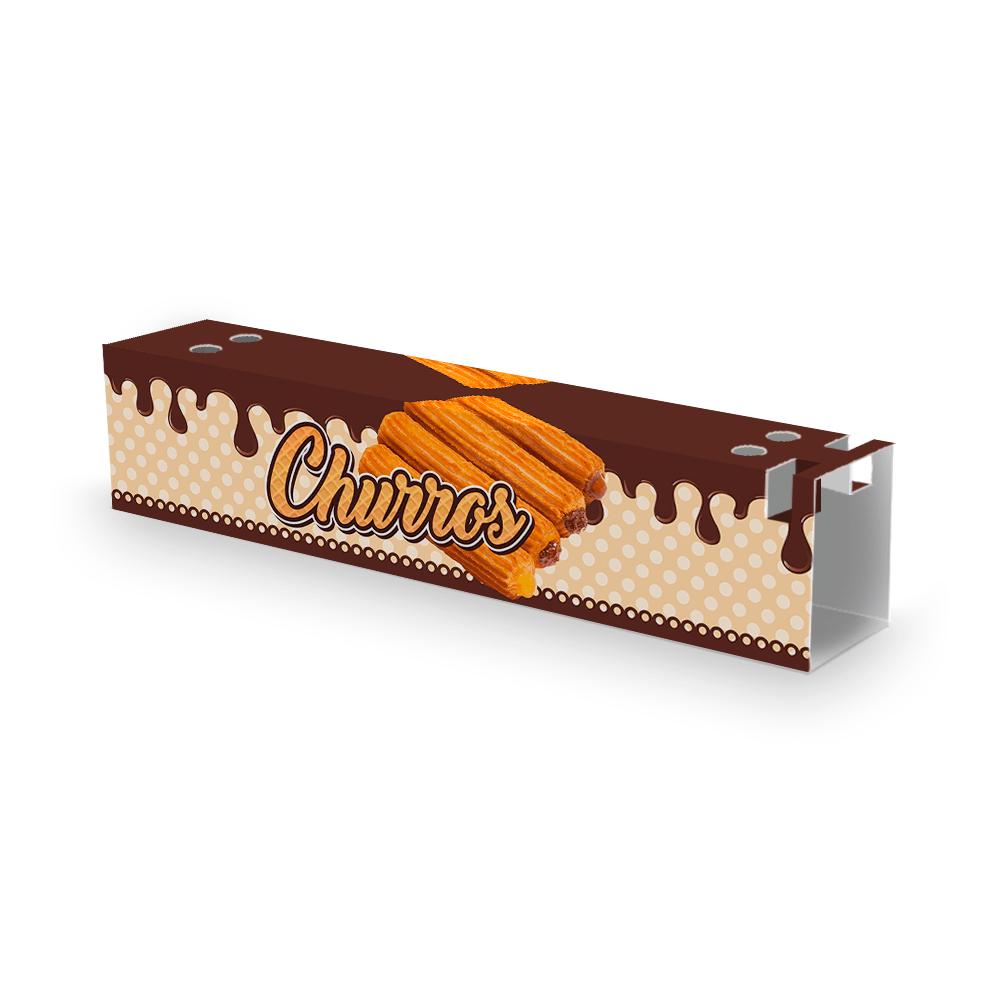 Embalagem para Churros Externo Gourmet - MARROM - 100 unidades  - 24 PRINT EMBALAGENS