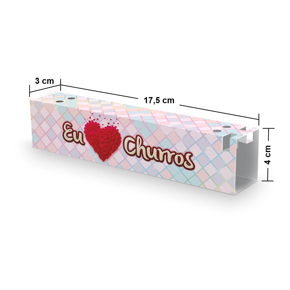 Embalagem para Churros Externo Gourmet - XADREZ - 100 unidades  - 24 PRINT EMBALAGENS