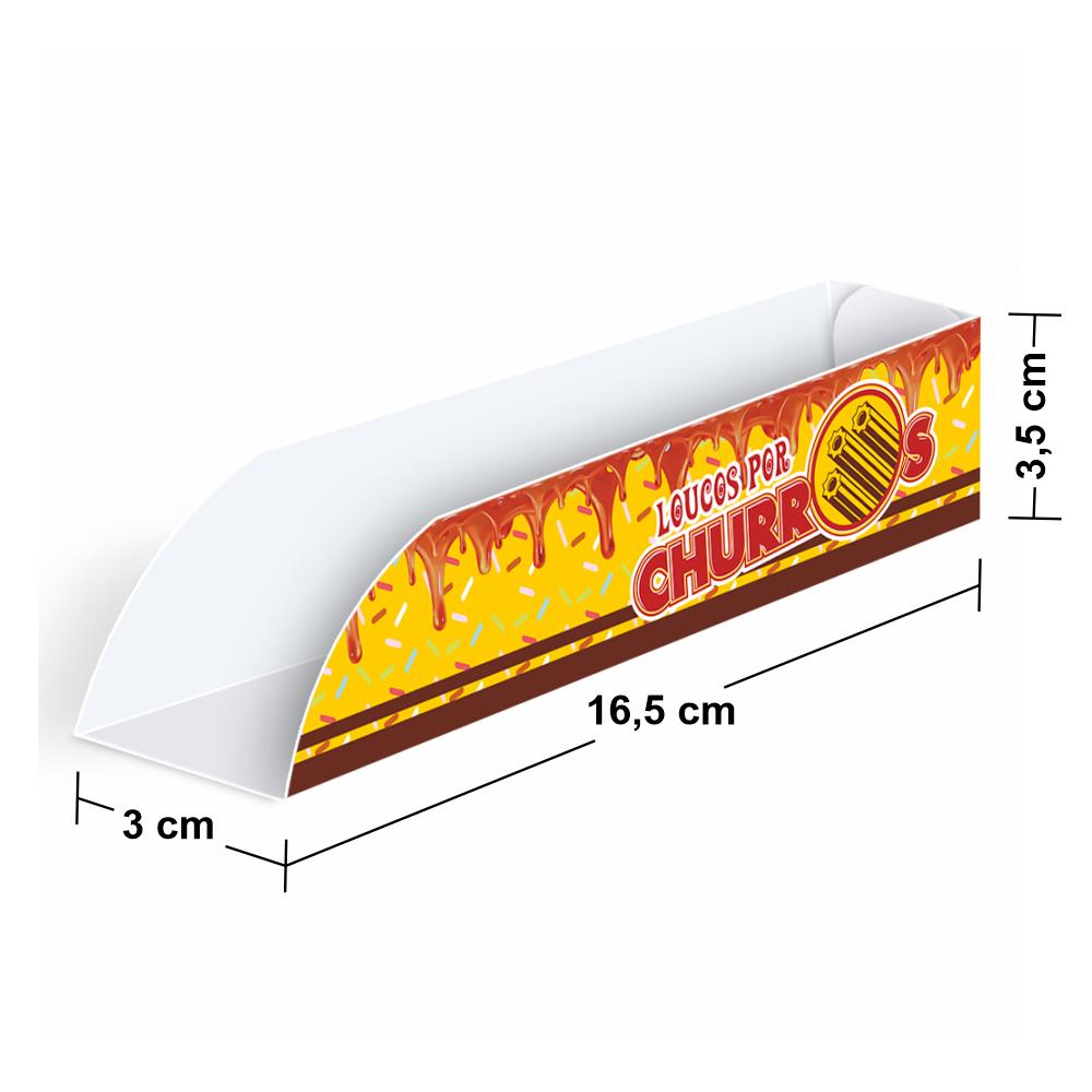 Embalagem para Churros Interno Gourmet - MARROM2 - 100 unidades  - 24 PRINT EMBALAGENS