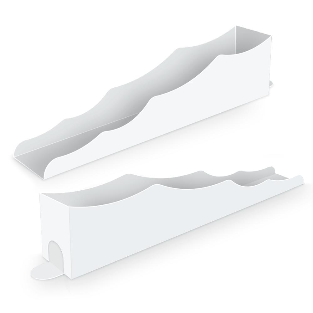 Embalagem para Churros Interno Ondulado Gourmet - WHITE - 100 unidades  - 24 PRINT EMBALAGENS