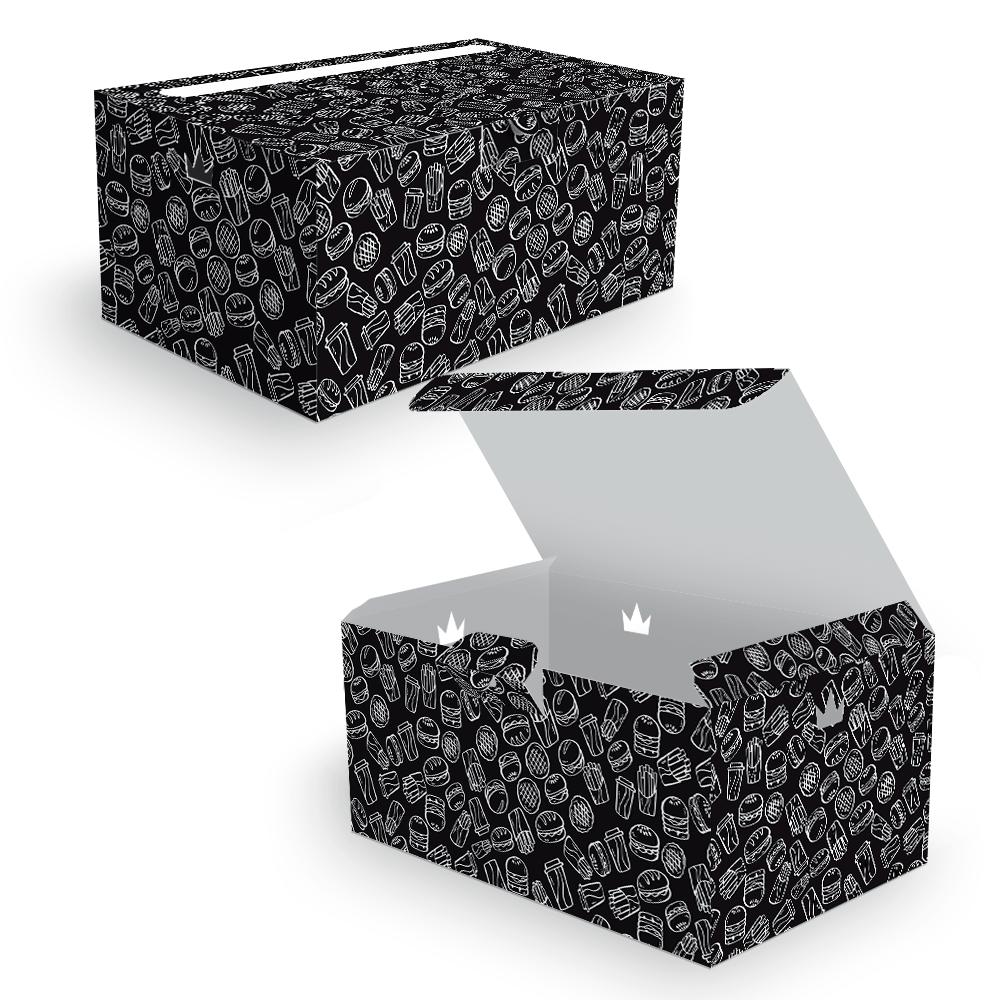 Embalagem para Combos Delivery - BLACK - 100 unidades  - 24 PRINT EMBALAGENS