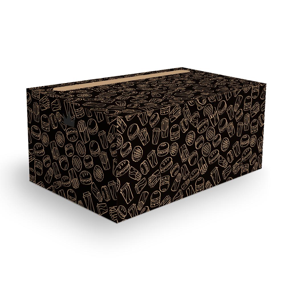 Embalagem para Combos Delivery - KRAFT BLACK - 100 unidades  - 24 PRINT EMBALAGENS