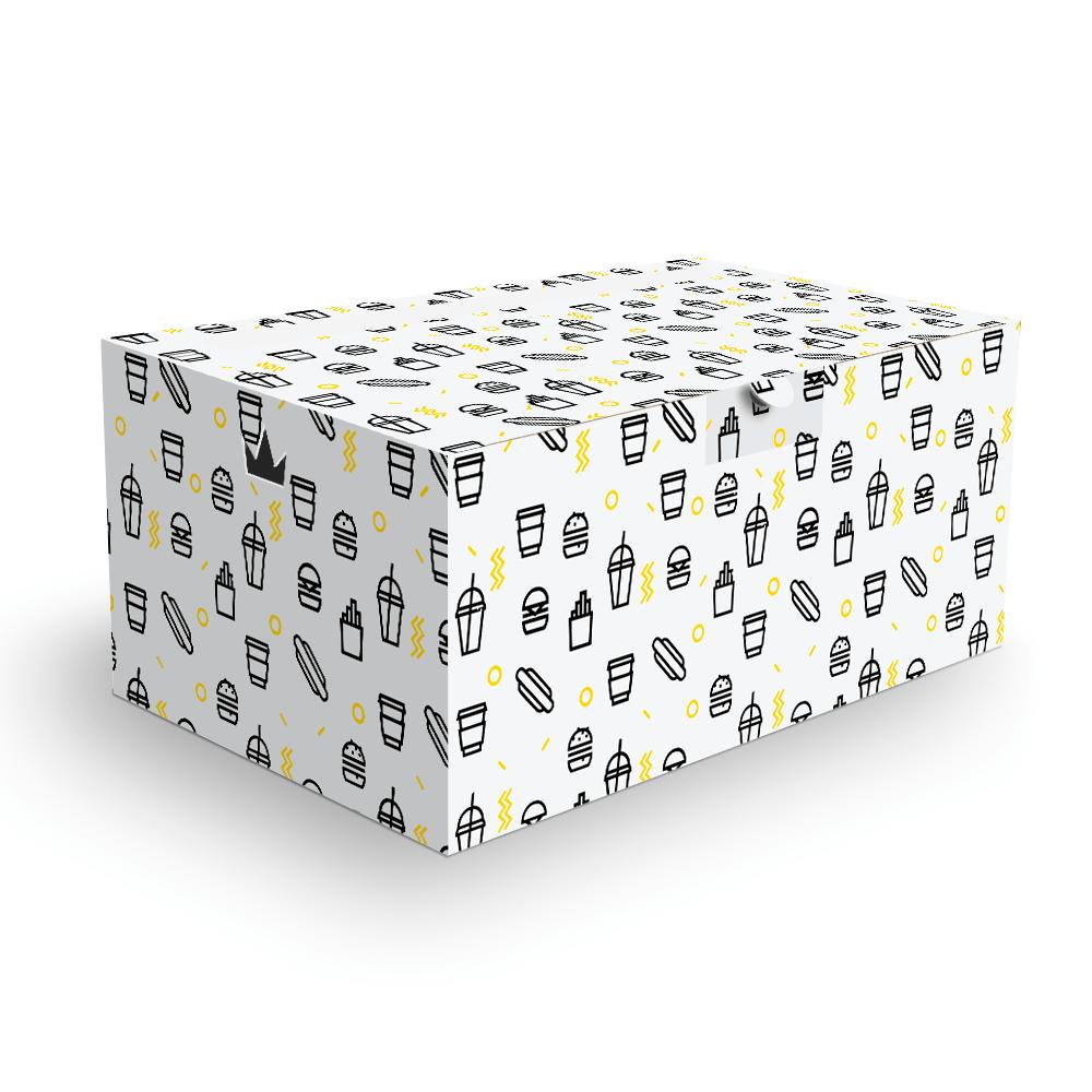 Embalagem para Combos Delivery - WHITE BLACK - 100 unidades  - 24 PRINT EMBALAGENS