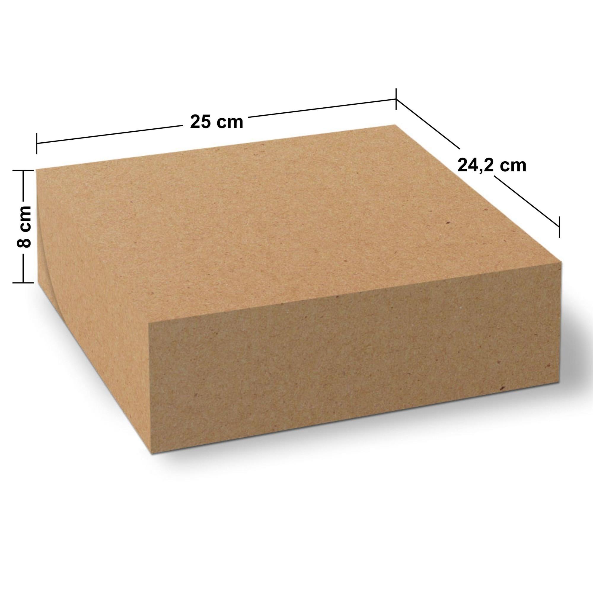 Embalagem para Doces e Salgados Grande - KRAFT - 100 unidades  - 24 PRINT EMBALAGENS