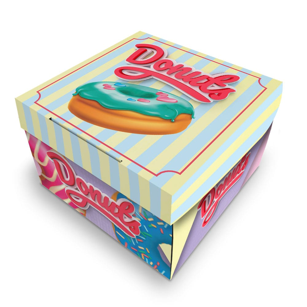 Embalagem para Donuts - 1 unidade - COLOR - 100 unidades  - 24 PRINT EMBALAGENS