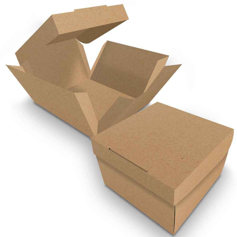 Embalagem para Donuts - 1 unidade - KRAFT - 100 unidades  - 24 PRINT EMBALAGENS