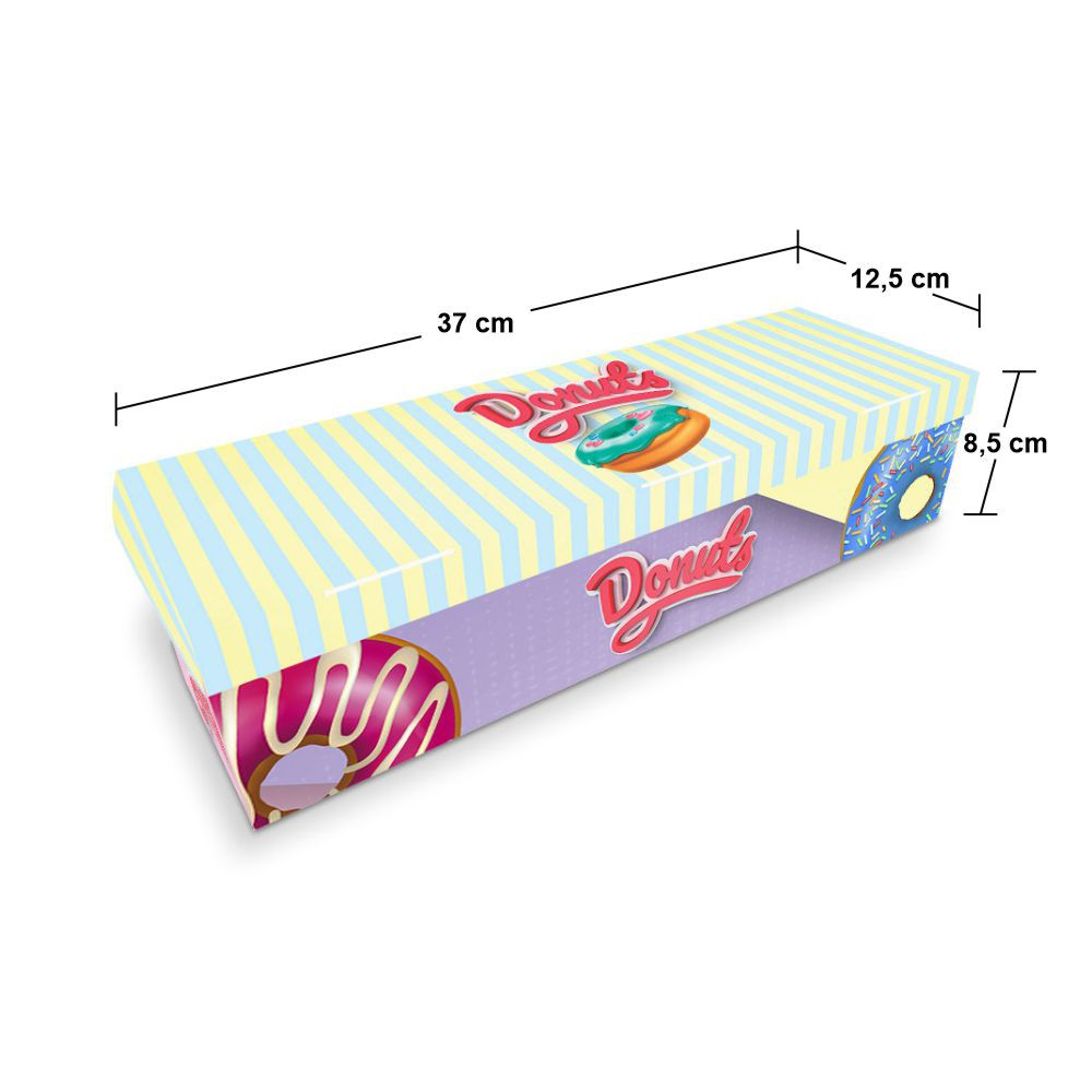 Embalagem para Donuts - 3 unidades - COLOR - 100 unidades  - 24 PRINT EMBALAGENS