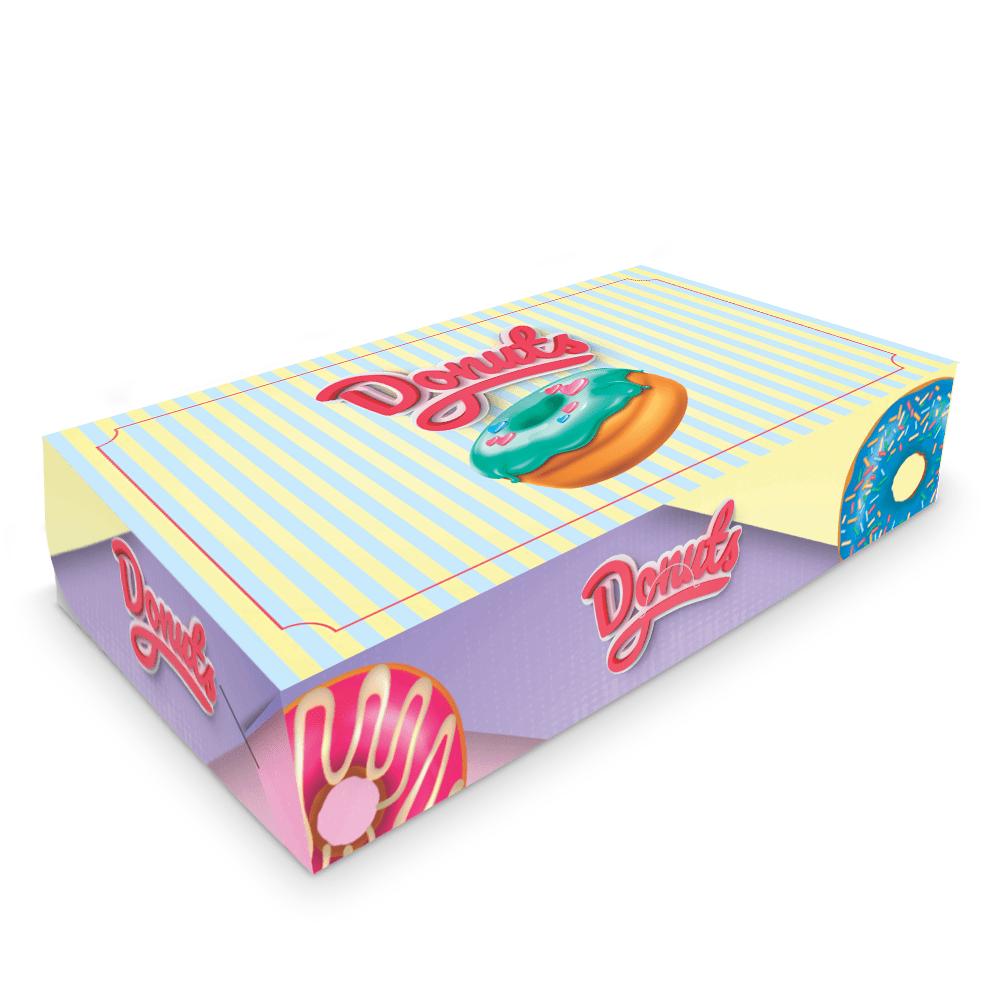 Embalagem para Donuts - 6 unidades - COLOR - 100 unidades  - 24 PRINT EMBALAGENS
