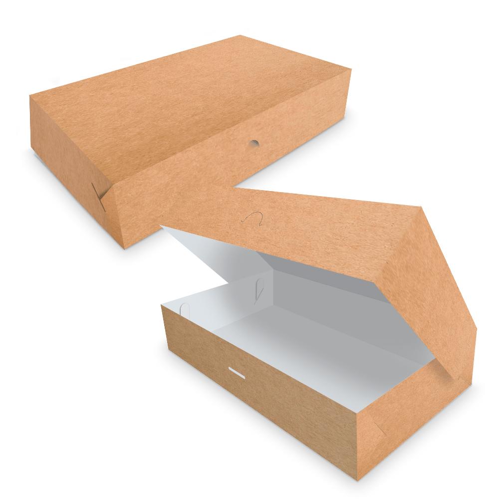 Embalagem para Donuts - 6 unidades - KRAFT - 100 unidades  - 24 PRINT EMBALAGENS