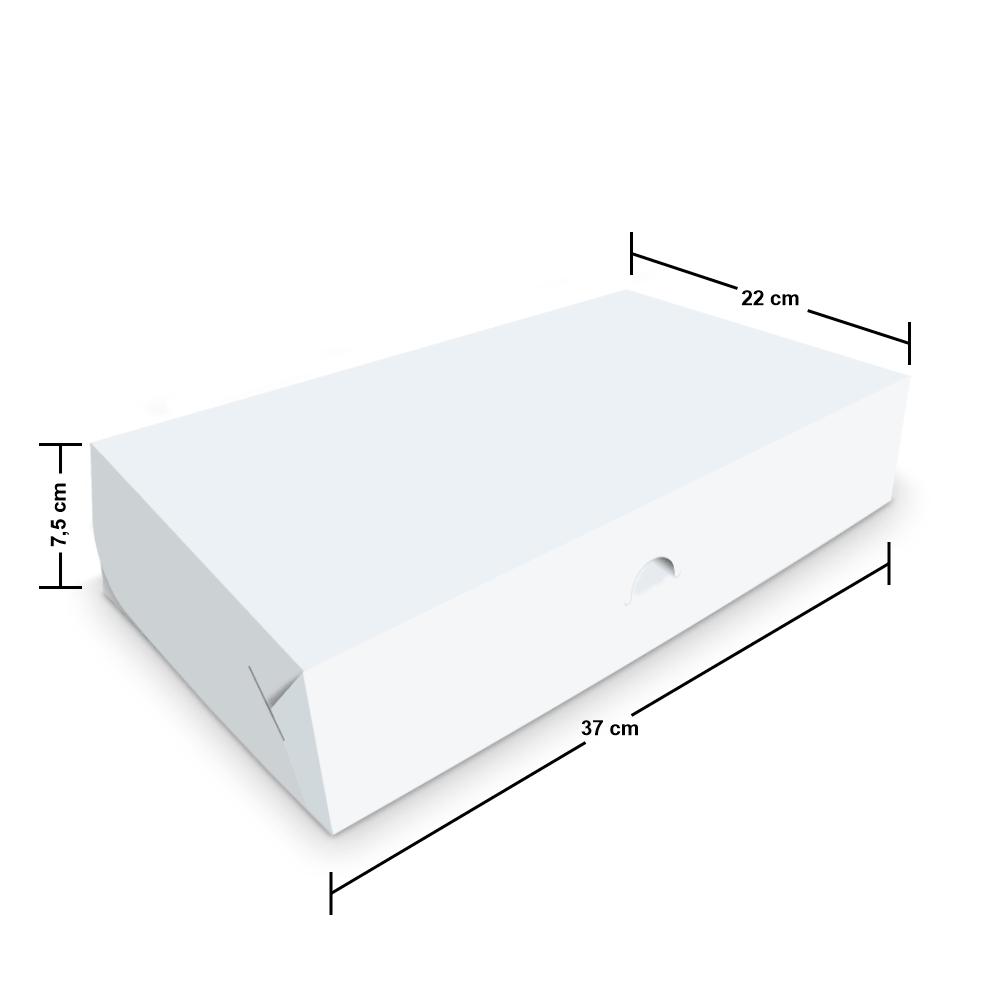 Embalagem para Donuts - 6 unidades - WHITE - 100 unidades  - 24 PRINT EMBALAGENS
