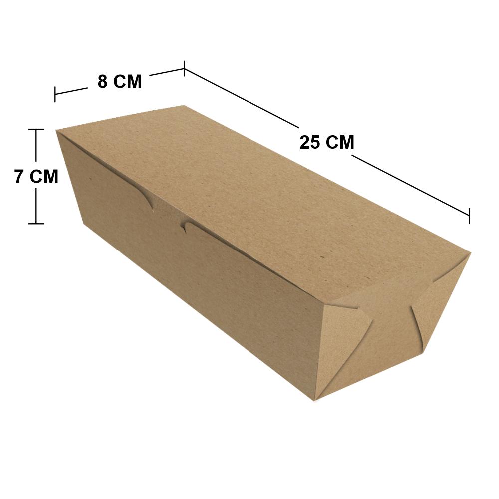 Embalagem para Hot Dog Delivery - Médio - KRAFT - 100 unidades  - 24 PRINT EMBALAGENS