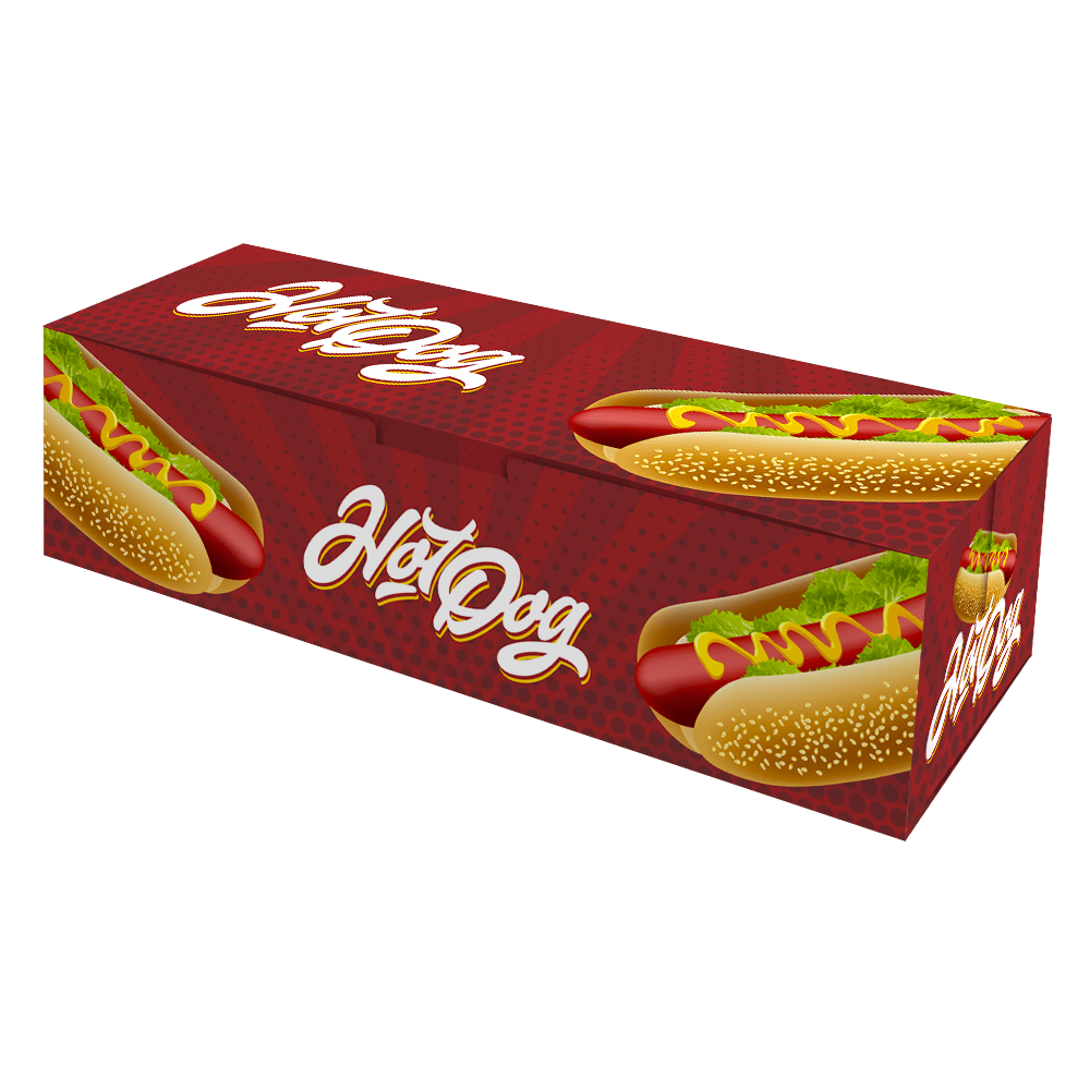 Embalagem para Hot Dog Delivery - Pequeno - COLOR - 100 unidades  - 24 PRINT EMBALAGENS