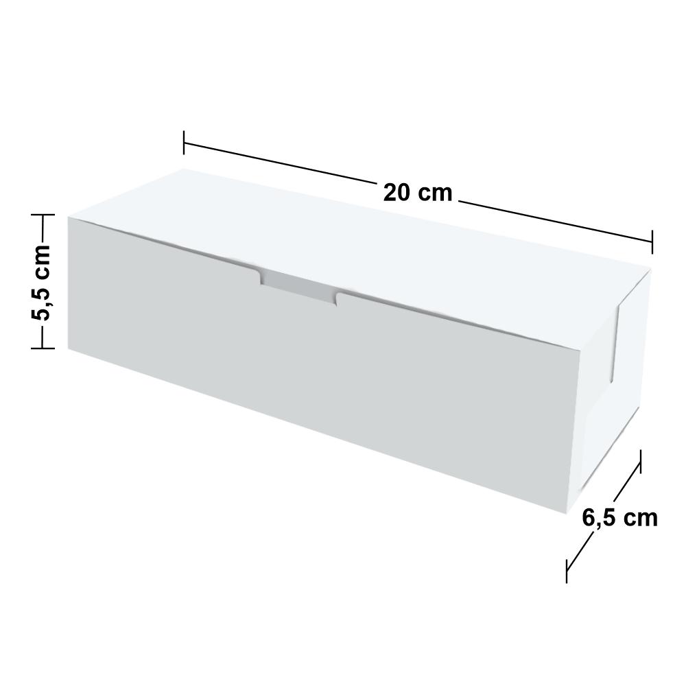 Embalagem para Hot Dog Delivery - Pequeno - WHITE - 100 unidades  - 24 PRINT EMBALAGENS