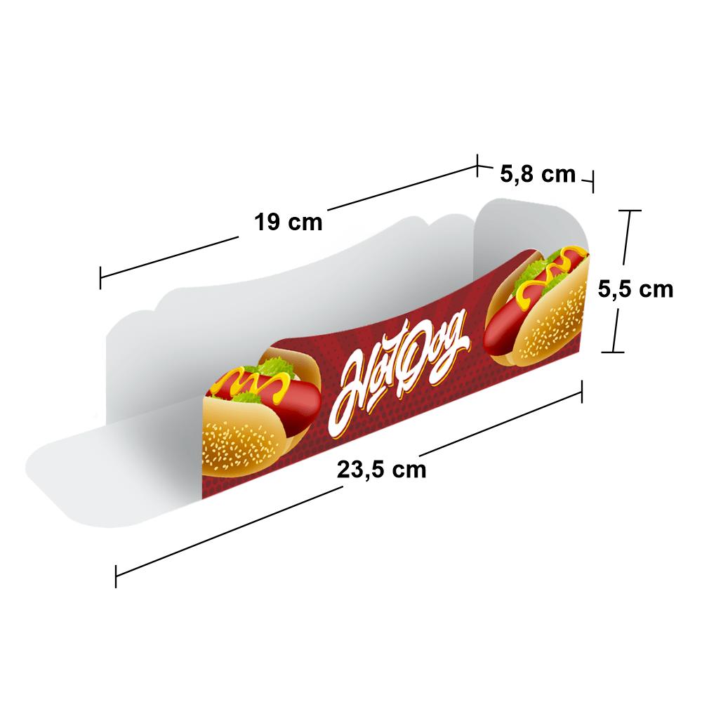 Embalagem para Hot Dog - Pequeno - COLOR - 100 unidades  - 24 PRINT EMBALAGENS