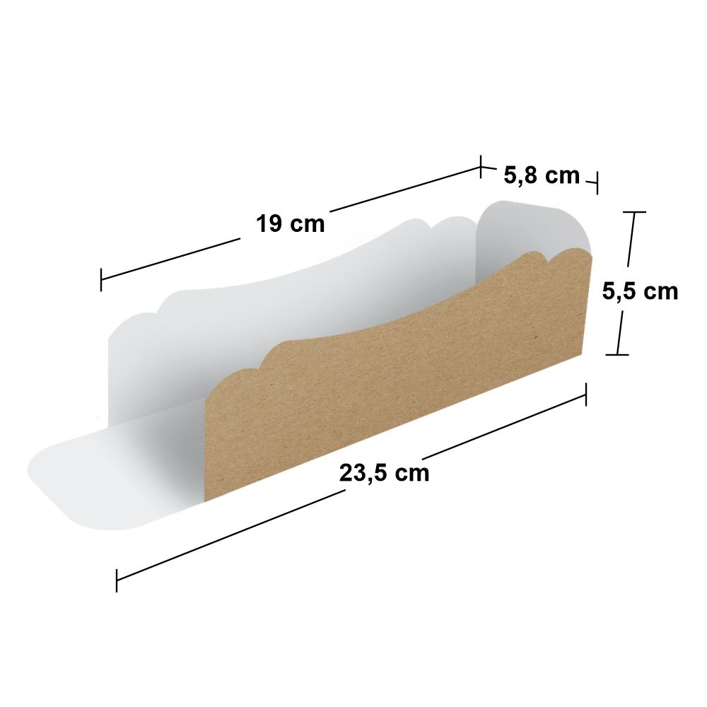 Embalagem para Hot Dog - Pequeno - KRAFT - 100 unidades  - 24 PRINT EMBALAGENS