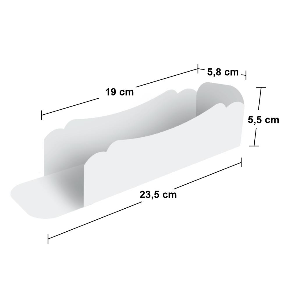 Embalagem para Hot Dog - Pequeno - WHITE - 100 unidades  - 24 PRINT EMBALAGENS