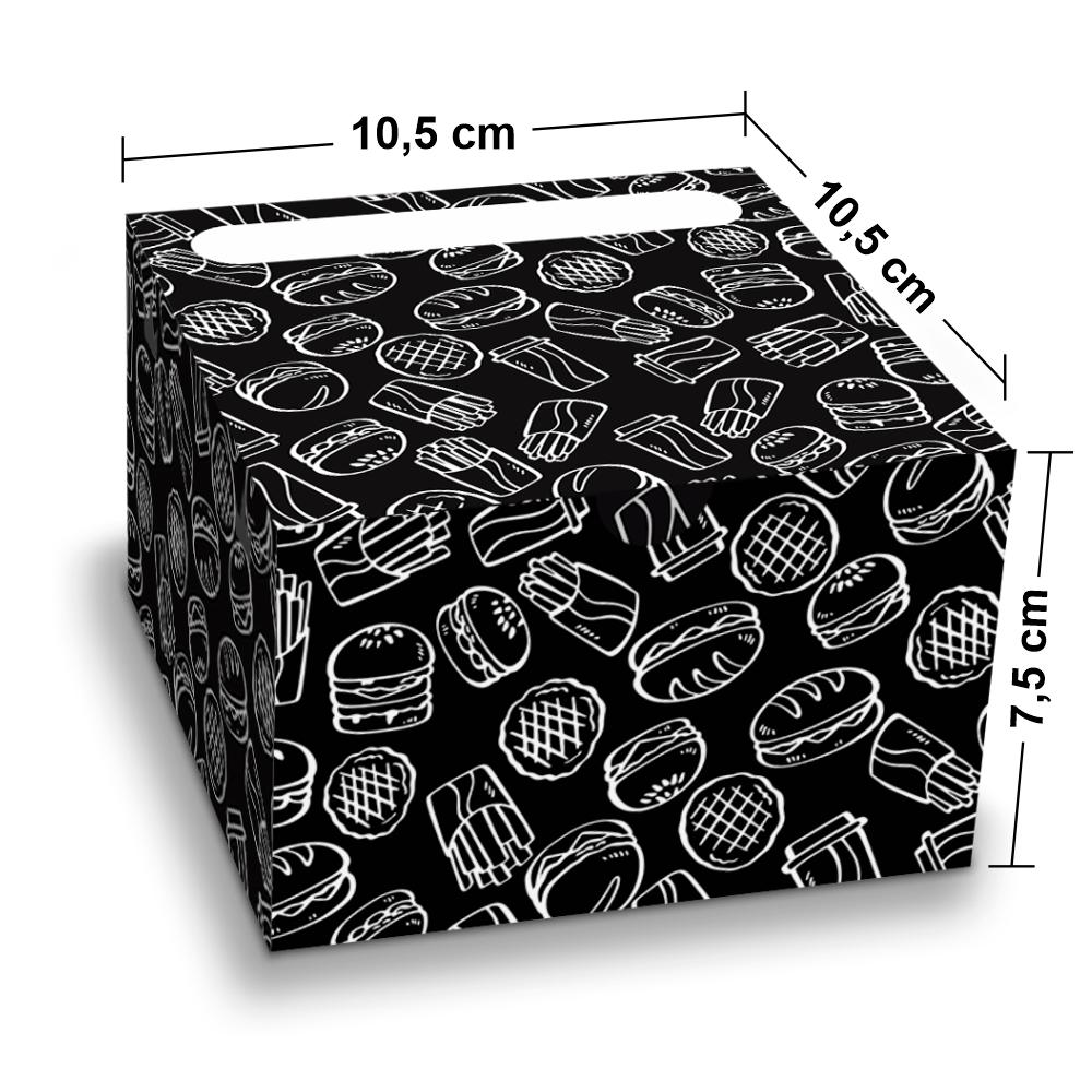 Embalagem para Lanches ou Hambúrguer - BLACK - 100 unidades - P  - 24 PRINT EMBALAGENS
