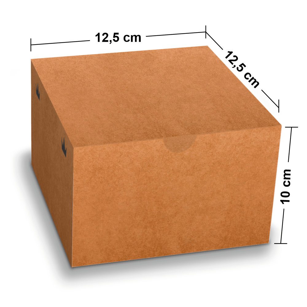 Embalagem para Lanches ou Hambúrguer - KRAFT - 100 unidades - GG  - 24 PRINT EMBALAGENS