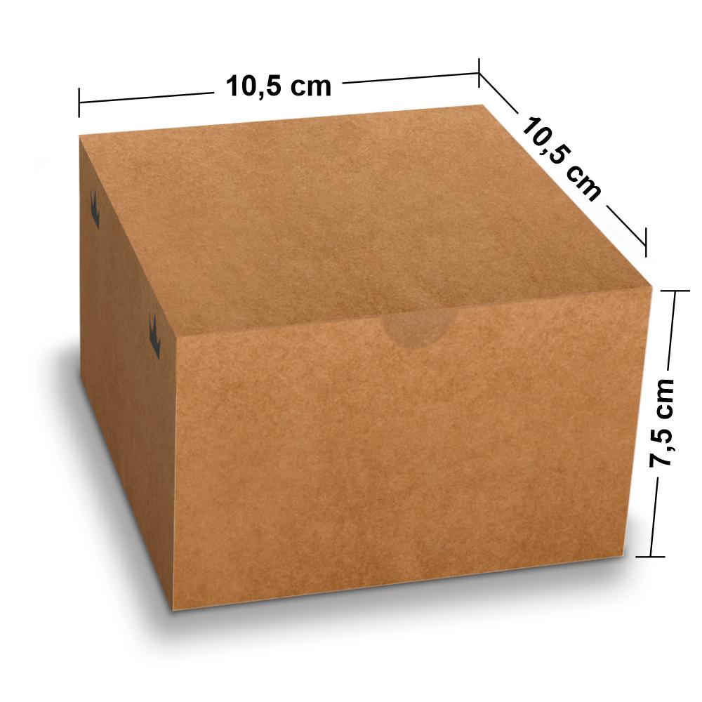 Embalagem para Lanches ou Hambúrguer - KRAFT - 100 unidades - P  - 24 PRINT EMBALAGENS