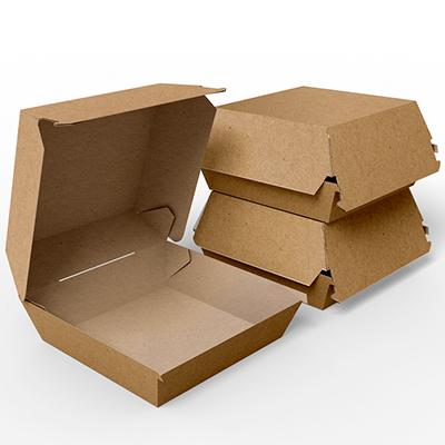 Embalagem para Lanches ou Hambúrguer - KRAFT - 100 unidades - PADRÃO  - 24 PRINT EMBALAGENS